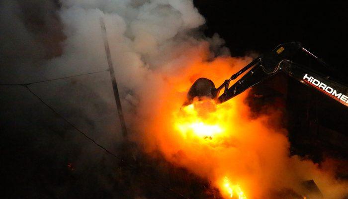 Bayburt'ta çıkan yangın korkuttu