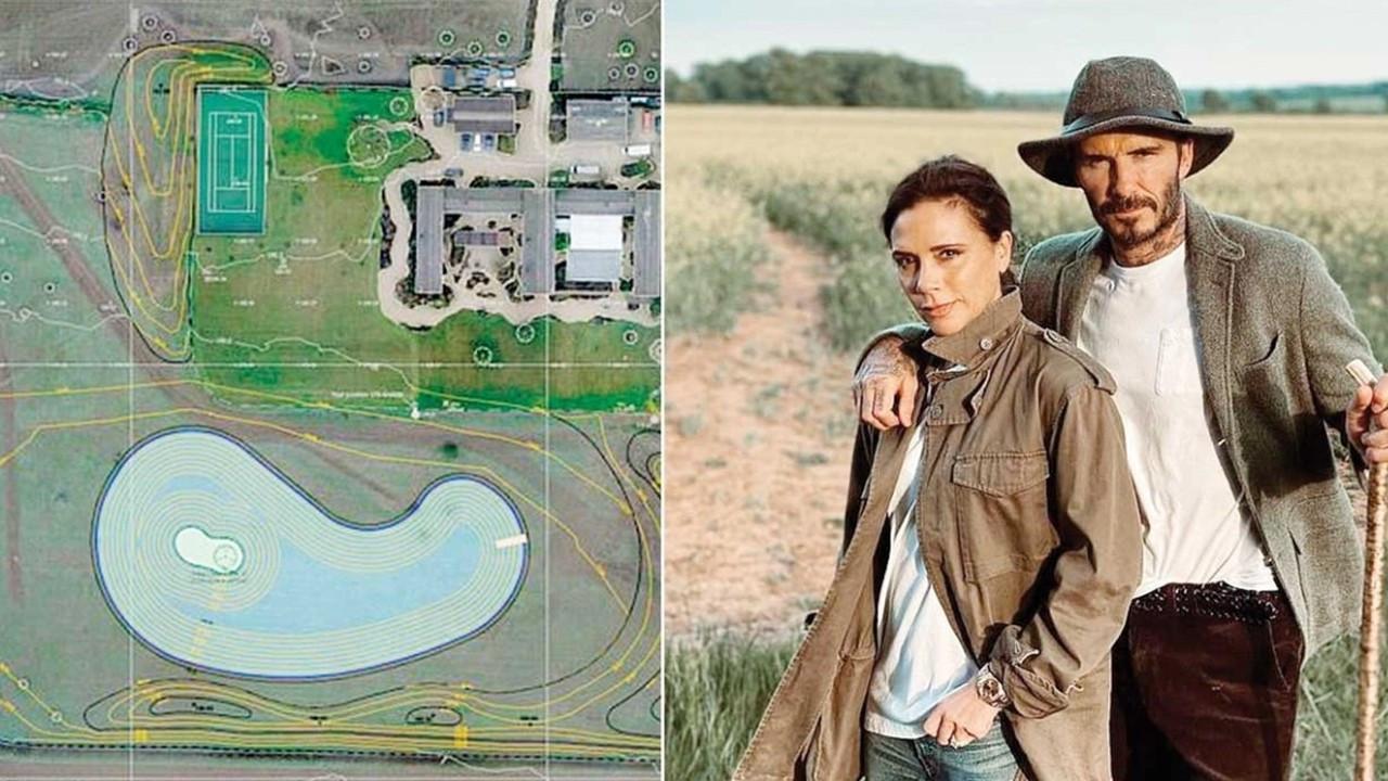 Beckham çifti gölün ardından evlerine ada yaptırıyor