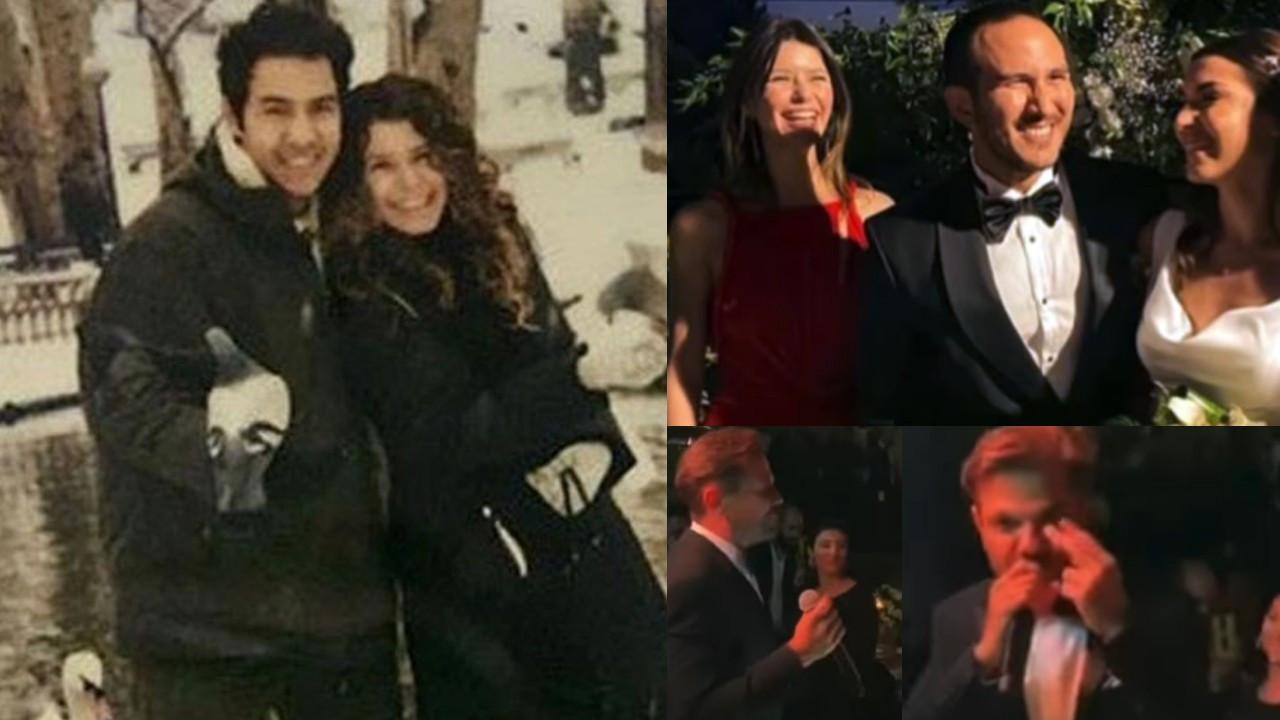 Beren Saat ilk aşkı Efe Güray'ın kardeşinin düğününe katıldı