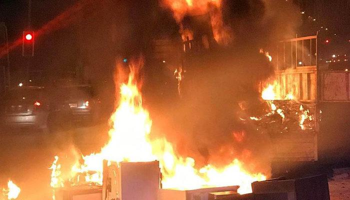 Bu görüntü Ankara'da çekildi! Seyir halindeki kamyonet alev alev yandı!