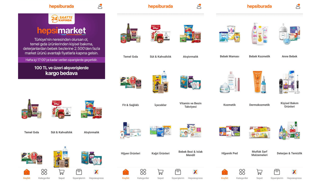Büyüyen online market kategorisine Hepsiburada'dan ikinci marka: hepsimarket