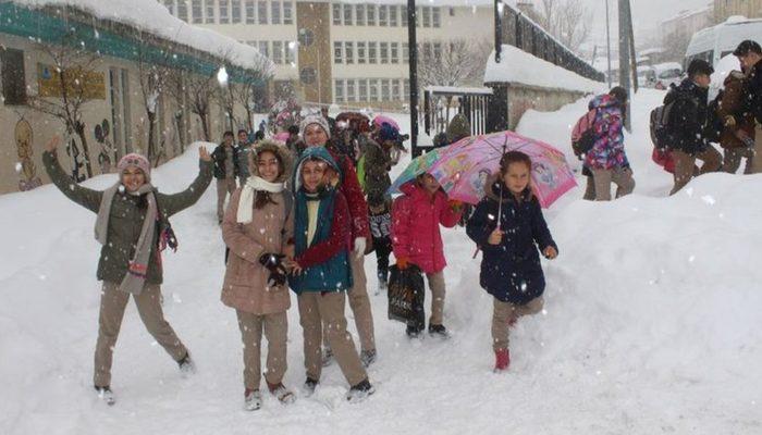 Çanakkale'nin Gökçeada ve Yenice ilçelerinde okullara kar tatili