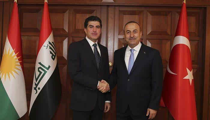 Çavuşoğlu, Neçirvan Barzani ile görüştü