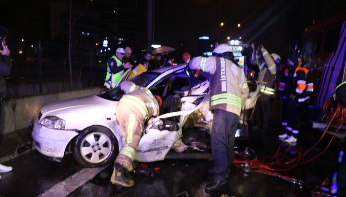 D100 'de 11 araç birbirine girdi: 1 ölü, 4 yaralı