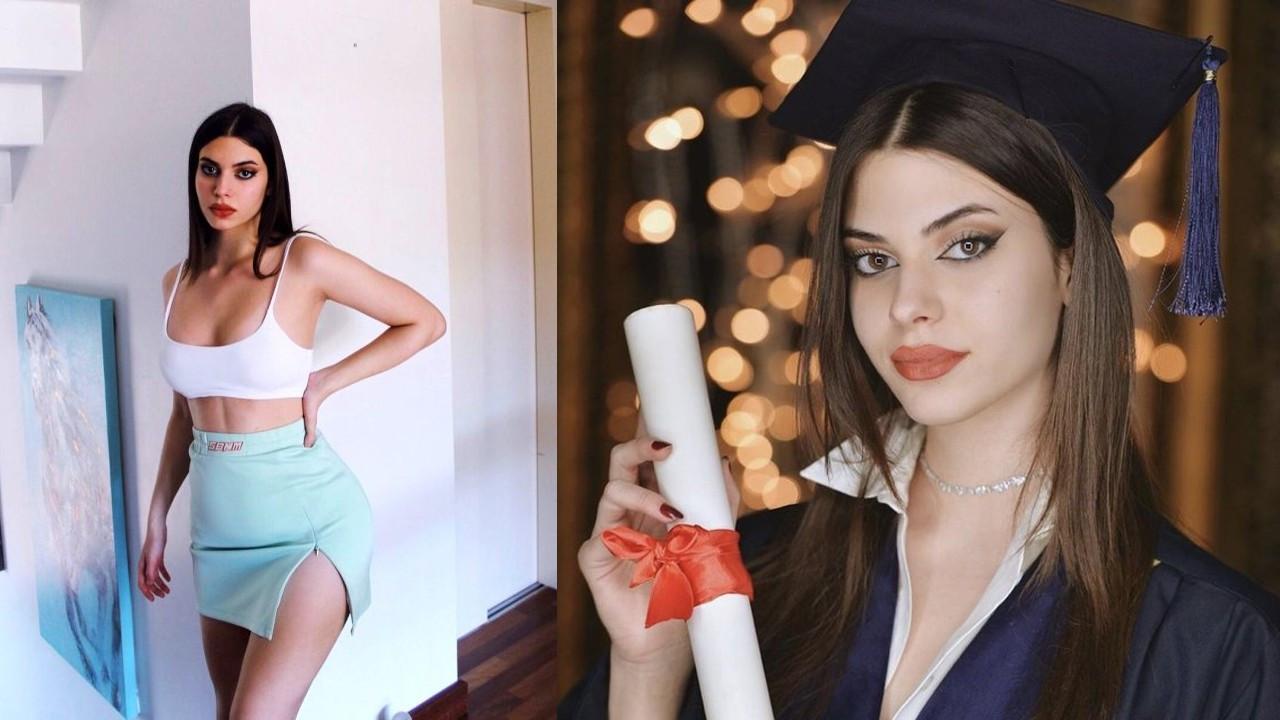 Defne Samyeli'nin küçük kızı Derin liseden mezun oldu
