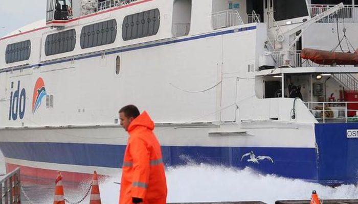 Deniz ulaşımına fırtına engeli! BUDO ve İDO'da bazı seferler iptal edildi