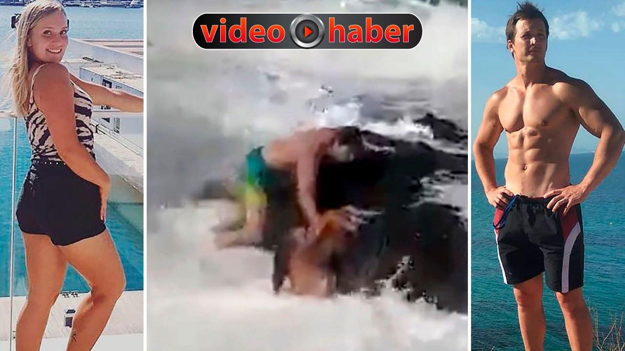 Dev dalgalar fitness antrenörlerini yuttu!