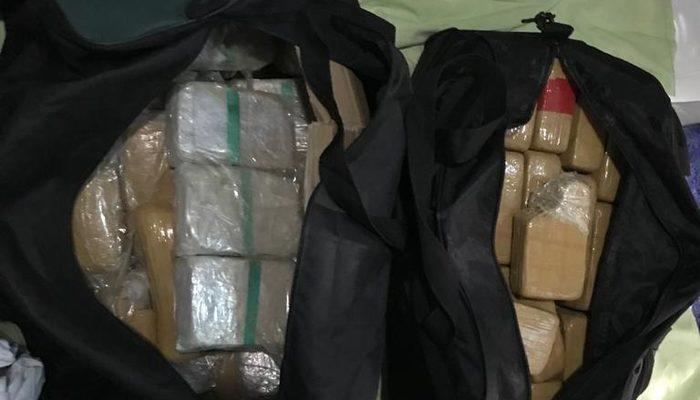 Duşakabinden 45 kilo eroin çıktı