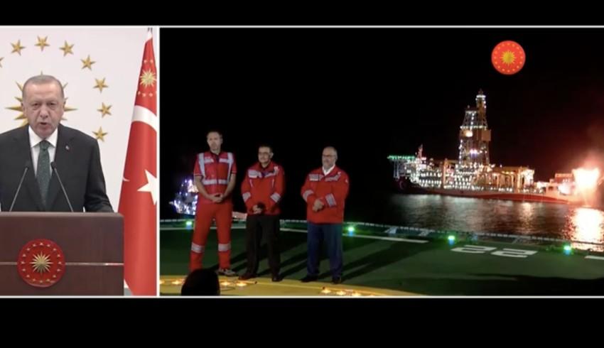 Erdoğan: Keşfettiğimiz gazın değerini mesnetsiz iddialarla düşürmeye çalışanlar, bugün burada yanan ateşe iyi baksınlar