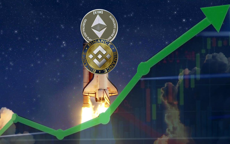 Ethereum ve BNB rekora doymuyor! Piyasa yeşillendi Ethereum ve BNB fiyatı rekorlara doymuyor. Bitcoin'in bir aşağı bir yukarı hareket ettiği kripto para...