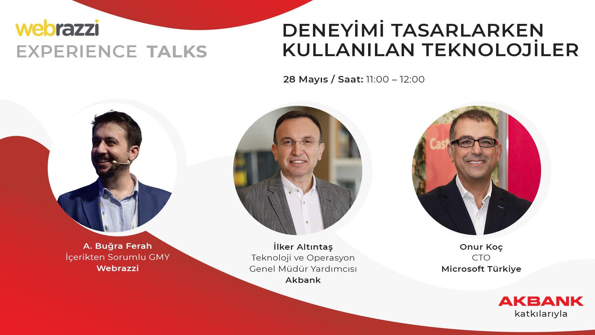 Experience Talks: Deneyimi Tasarlarken Kullanılan Teknolojiler Canlı Yayın