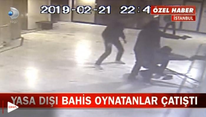 Gaziosmanpaşa'da yasa dışı bahis oynatanlar çatıştı