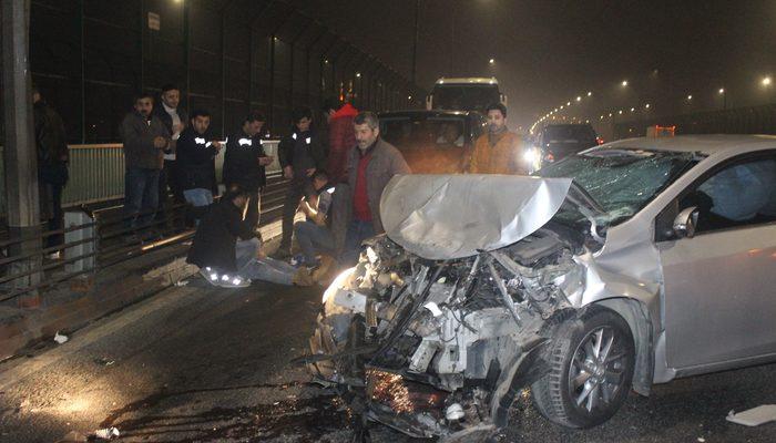Haliç Köprüsü'nde zincirleme kaza! 3 yaralı