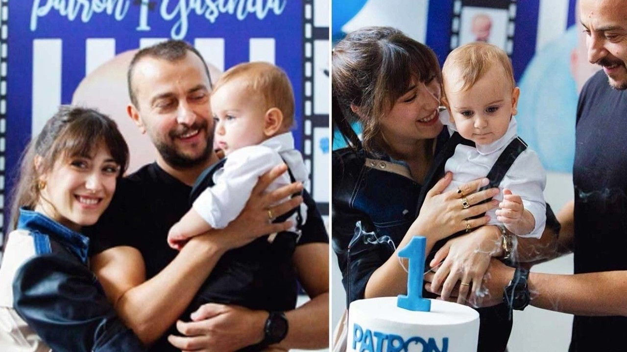 Hazal Kaya ve Ali Atay'ın oğulları 1 yaşına bastı