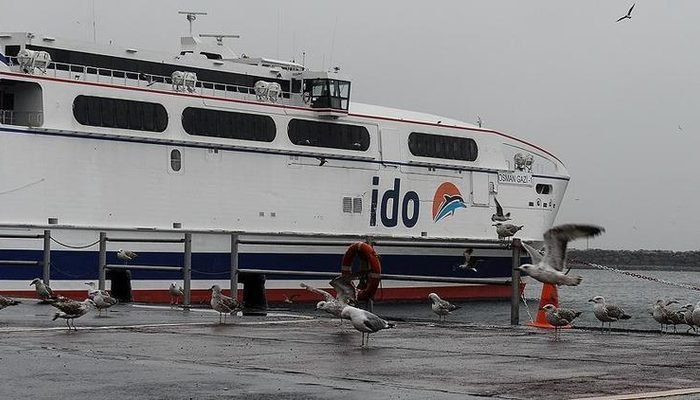 İDO'nun bazı seferleri fırtına nedeniyle iptal edildi
