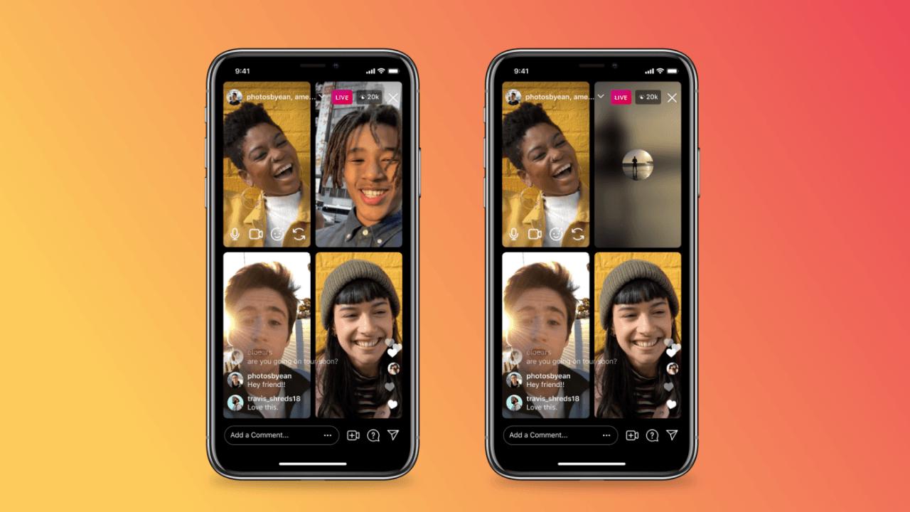 Instagram canlı yayınlarına, görüntüyü ve sesi kapatma özellikleri ekleniyor