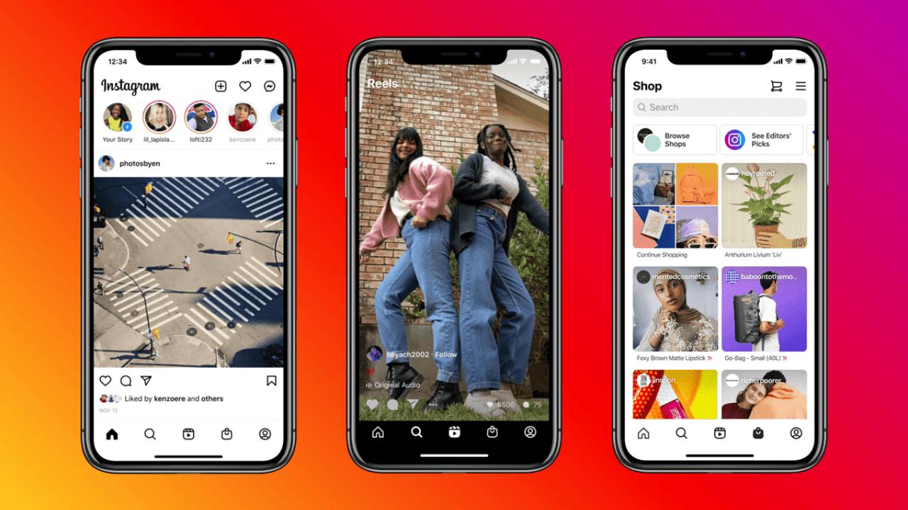 Instagram Reels ve Alışveriş sekmelerini Ana Sayfaya taşıyor