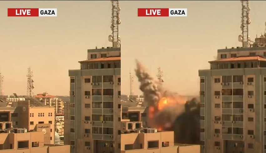 İsrail, Gazze'de medyanın bulunduğu 13 katlı binayı bombaladı