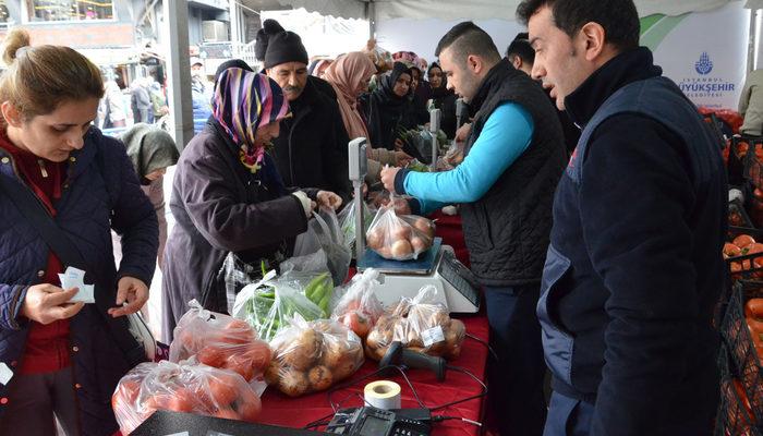 İstanbul Büyükşehir Belediyesi, tanzim satış noktalarında 10 günde 2 bin 894 ton sebze satıldığını açıkladı