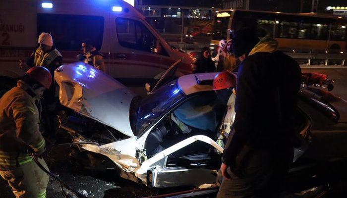 İstanbul'da korkunç kaza! Sıkıştığı yerden 1.5 saatte çıkabildi!