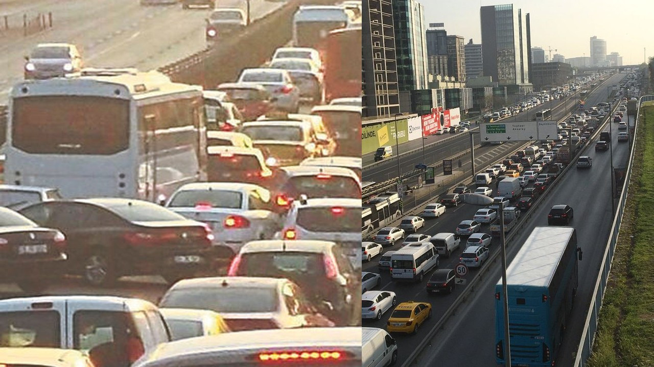 İstanbul'daki yoğun trafik 'Bu nasıl tam kapanma?' dedirtti