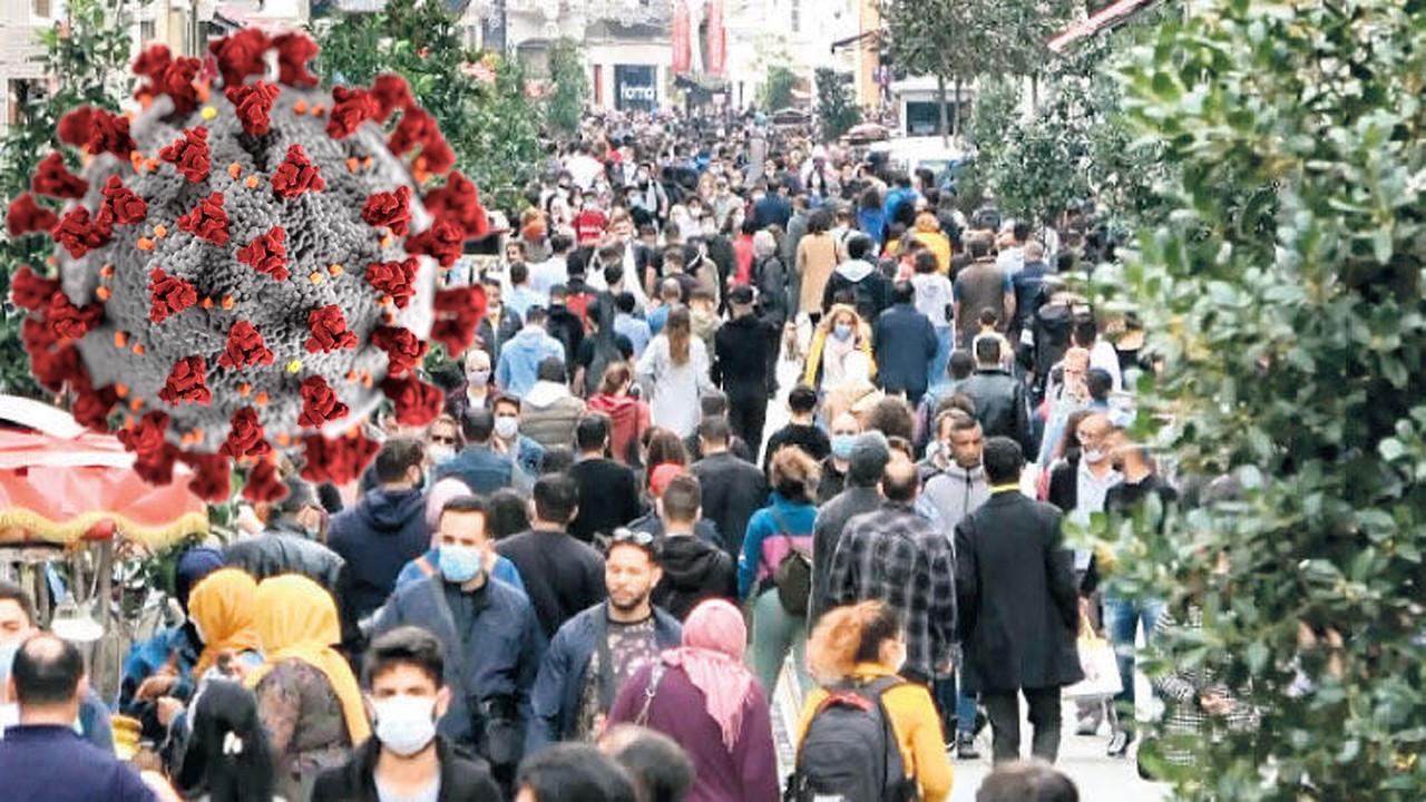 İstiklal Caddesi'nde şaşkına çeviren kalabalık!