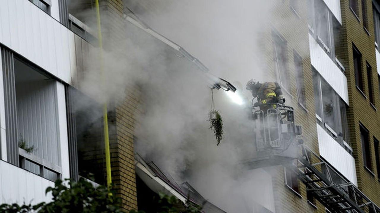 İsveç'te şiddetli bir patlama meydana geldi!