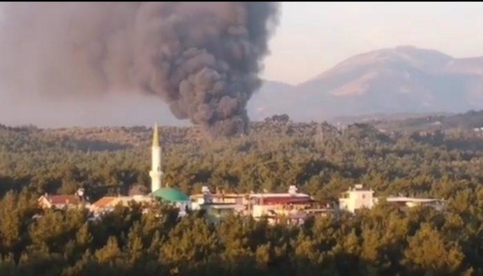İzmir'de fabrika yangını! Büyük zarar