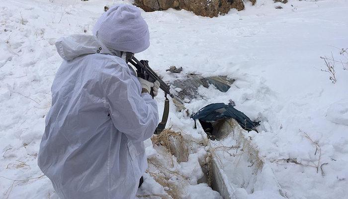 Jandarmadan terör örgütü PKK'nın kış üslenmesine ağır darbe