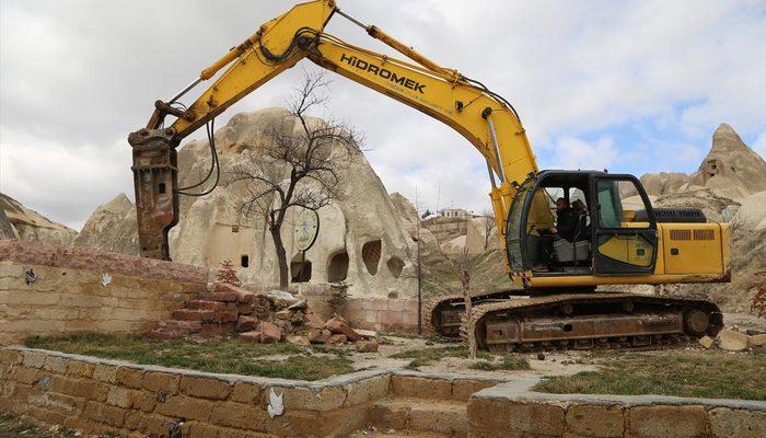 Kapadokya'daki yapıların yıkılmasına başlandı