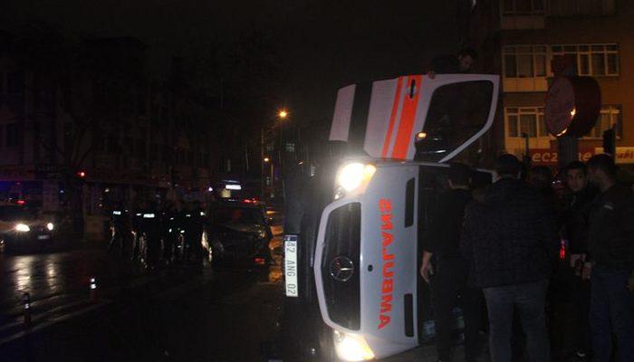 Konya 'da ambulans ile polis aracı çarpıştı: Yaralılar var