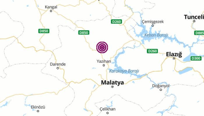Malatya'da 3.9 büyüklüğünde deprem meydana geldi