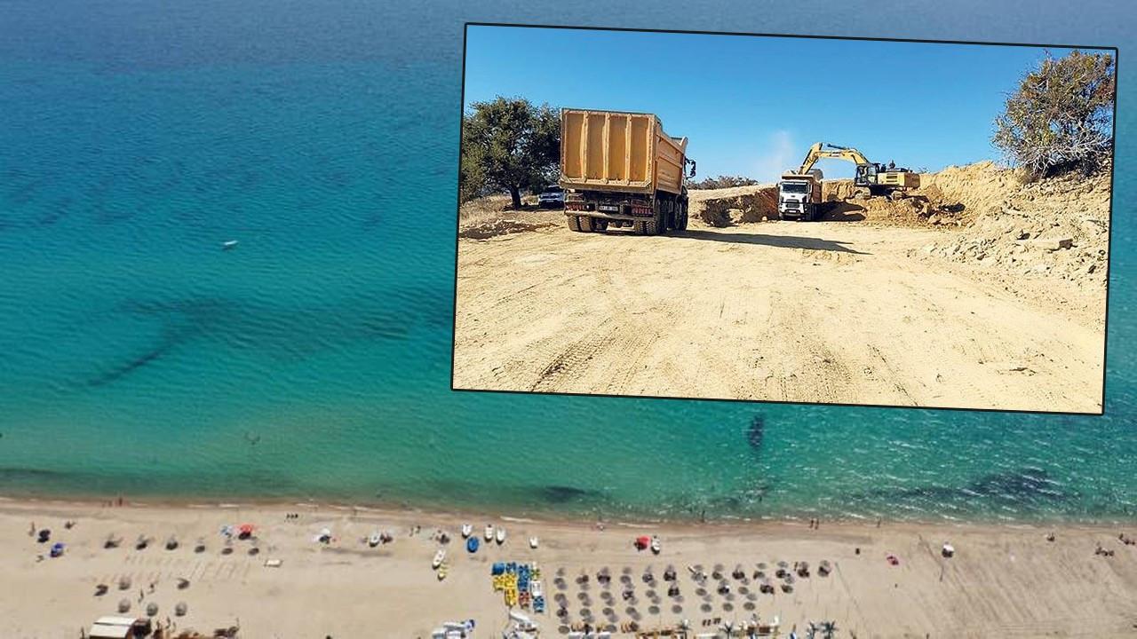 Mavi cennet Saros Körfezi'nde inşaata devam