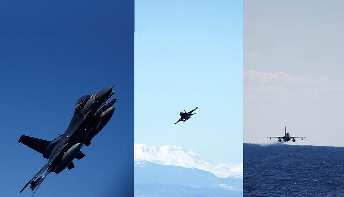 Mavi Vatan 2019 tatbikatında nefes kesen anlar! F-16'lar böyle vuruldu