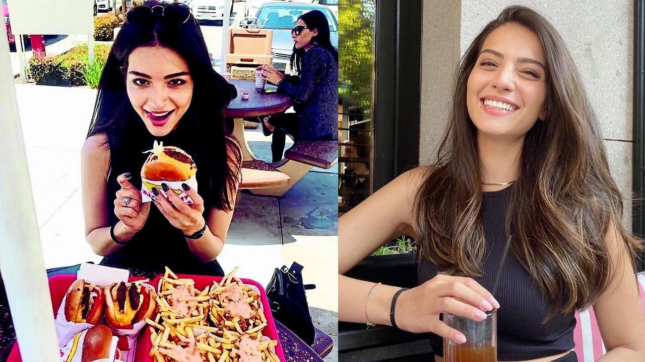 Melisa Aslı Pamuk'un hamburger sevinci