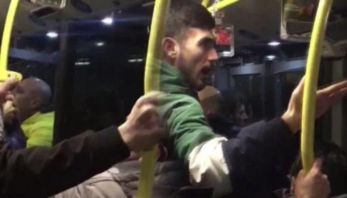 Metrobüs karıştı: Ağabey çocuklar var, kadın var, yapmayın!