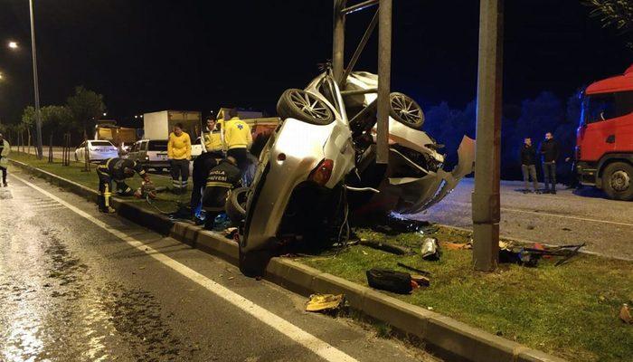 Muğla'da feci kaza! Araç bu hale geldi