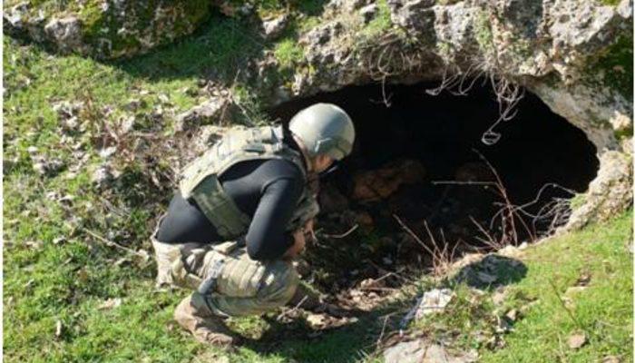 PKK'lı teröristlerin kullandığı 35 mağara bulundu