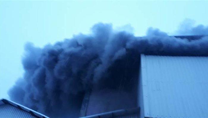 Rize'de çay fabrikasında yangın!