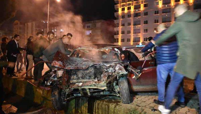 Samsun'da feci kaza! 5 araç birbirine girdi: Çok sayıda yaralı var!
