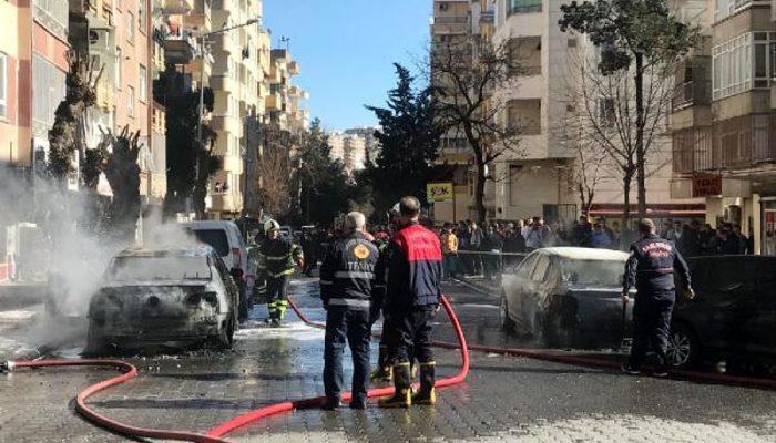 Şanlıurfa'da korkutan patlama! Mahalledeki araçlar alev aldı