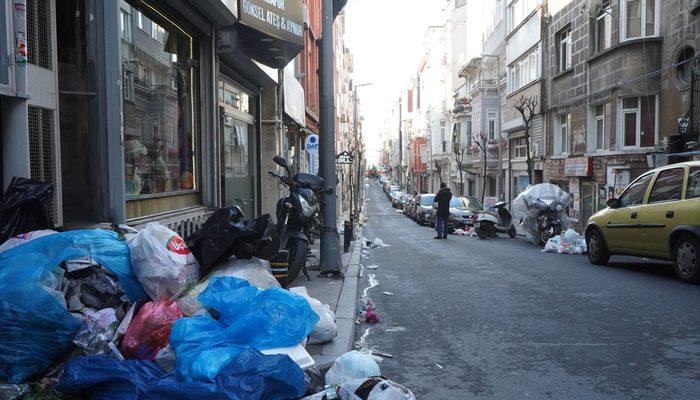 Şişli'de işçiler greve gitti, sokaklar çöp içinde kaldı!