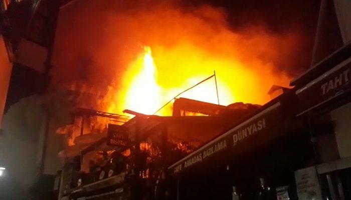 Son dakika: Ankara'da tarihi Hamamönü Çarşısı'nda yangın