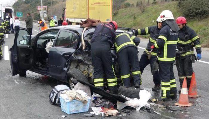 Son dakika! Kocaeli'de TEM'de zincirleme kaza: 1'i çocuk, 8 yaralı