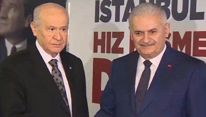 Son dakika! MHP Lideri Bahçeli'den TBMM Başkanı Yıldırım'a ziyaret