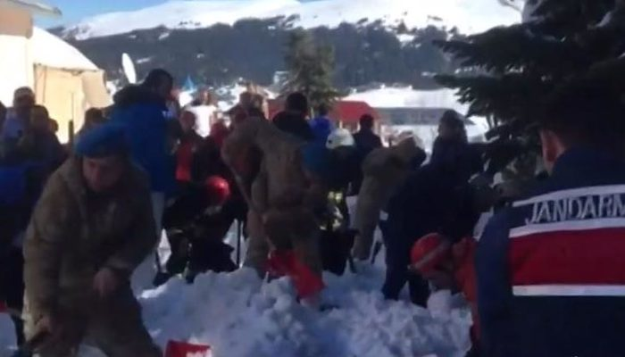 Son dakika! Uludağ'da büyük panik: Çok sayıda kişi kar altında kaldı