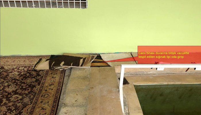 Teröristler caminin altına sığınak yapmışlar!