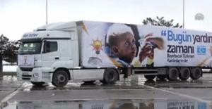 IŞİD'e yardıma giden patlayıcı fitili dolu kamyonu AKP brandasıyla örttüler!