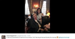 Türk bilim insanı Dağdeviren Stephen Hawking'i ağırladı