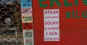 Kilis'te esnaf kepenk kapattı
